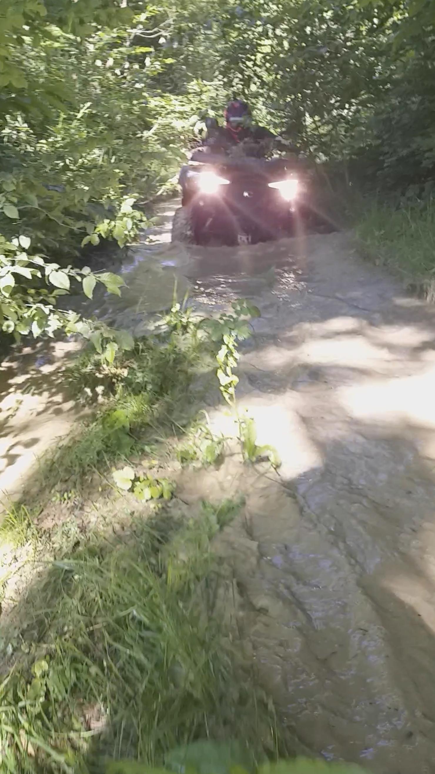 passage d'eau en quad